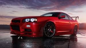 nissan skyline r34 gt x nissan skyline r34 gt r rojo new car modification