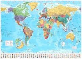 printable world map a1 giant world map posters ebay