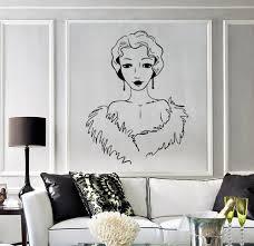 online get cheap wall decal wallpaper salon aliexpress com beautiful woman vinyl wall stickers retro style beauty salon decor wall decal artistic design wallpaper new