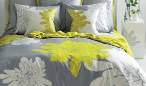 bedding set noticeable yellow and gray geometric bedding