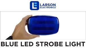 magnetic base strobe light led blue strobe light 18 leds battery powered dual magnet base