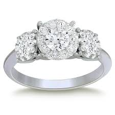 Costco Wedding Rings by Round Brilliant 1 44 Ctw Vs2 Clarity I Color Diamond Platinum