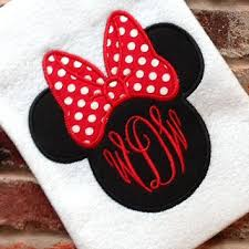minnie mouse monogram shop disney monogrammed shirts on wanelo