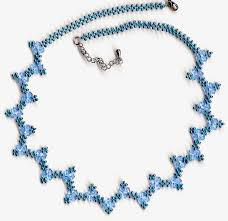 free pattern for pretty necklace sea date to bead this necklace