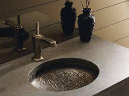 kohler artist editions lilies lore oval undermount bathroom sink