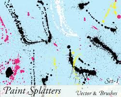 paint splatter vector illustrator set 1 vector u0026 photoshop