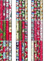 christmas wrapping paper 4 x 10m christmas wrapping paper rolls kids snowman santa