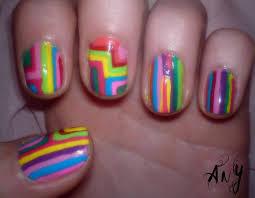 any rainbow colorful nail design