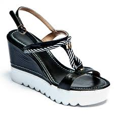 black nautical wedges ladies wedge sandals espadrille co uk