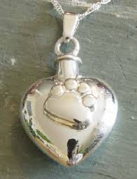 pet urn necklace paw print heart pet urn necklace memorial urns