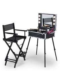 Rolling Makeup Case With Lights Makeup Station Cantoni