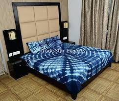 Tie Dye Bed Set Indian Bed Covers Indigo Bedding Set Bedspread Tie Dye Bed
