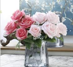 fake flowers for home decor 10pcs french rose silk flower bouquets wedding fake flowers rose