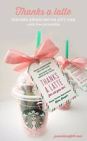 gift for thanks a latte appreciation gift idea with free printable