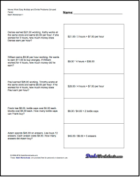 simple equation word problems division facts table