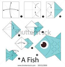Step By Step Origami For - step by step how make stock vector 383312866