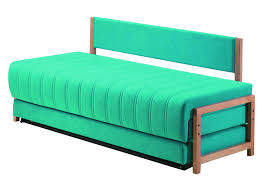 simple custom twin size sleeper sofa with green color and fold out
