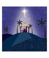 hill top nativity christmas card pack of 10 cancer research uk