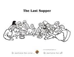 Port Hope Knights Colouring Pages Bebo Pandco Last Supper Coloring Page