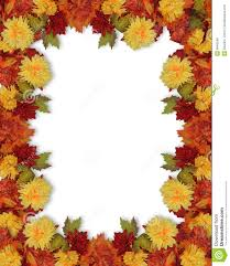 fall autumn flowers border stock illustration image of digital