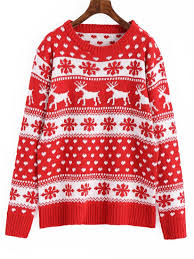 christmas sweaters snowflakes elk graphic christmas sweater sweaters one size