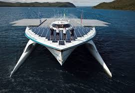 largest ship in the world world s largest solar powered ship docks at wfes