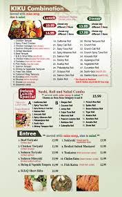 menu kiku sushi monrovia