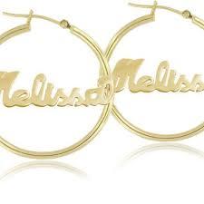 Personalized Name Earrings 10 Best Name Earrings Images On Pinterest Hoop Earrings Rose