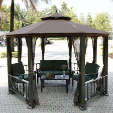 tonnelle de jardin avec moustiquaire homdox tonnelle de jardin en aluminium avec moustiquaire et
