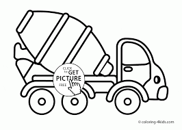 cement truck coloring page for toddlers transportation coloring