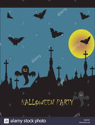 halloween party announcements spooky halloween party card with abstract design cemetery with