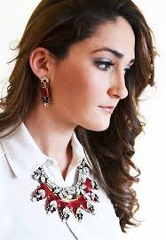 earrings with statement necklace images Dazzling crystal squares bib red statement necklace with black jpg