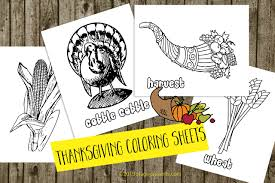 thanksgiving color sheets free color with me