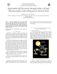Different Names Of Green by Generation Of Electricity Through Solar Cell And Thermocouples