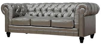Leather Sofa Designs Living Room Design Comfy Tufted Leather Sofa For Living Room