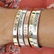 personalized cuff bracelet custom personalized cuff bracelet