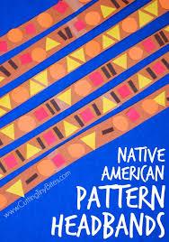 american pattern headbands shape patterns color shapes