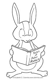 dulemba coloring tuesdays rabbit reading