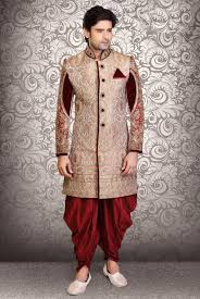 marriage dress groom shervani for marriage buy online beige dhoti style shervaani