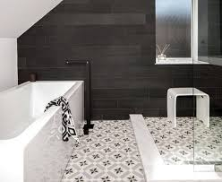 fascinating black and white vinyl bathroom floor tiles for