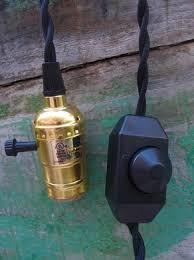 Pendant Light Cord Kit Single Gold Socket Pendant Light Lamp Cord Kit W Dimmer 11ft