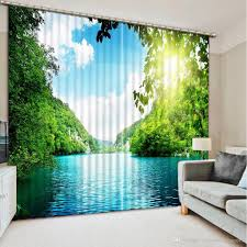 new custom 3d beautiful luxury european modern sunshine nature new custom 3d beautiful luxury european modern sunshine nature scenery fashion decor home decoration for bedroom 3d curtain curtains for living room window