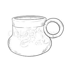 vector sketch illustration of pot hand draw illustration for your