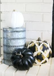 u0026 white halloween mantel decor