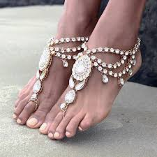 barefoot sandals for wedding luxury new fashion bridal barefoot sandals wedding shoes foot