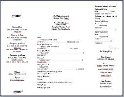 wedding bulletins exles wedding program templates best 20 wedding programs wording ideas