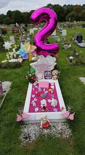 gravesite decorations spends hundreds decorating stillborn baby s grave for