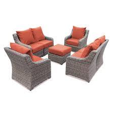 Patio Furniture Langley Sunbrella Fabric Outdoor Lounge Furniture Patio Furniture