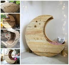 diy moon pallet crib home kids baby bed diy craft crib crafts
