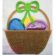 easter egg basket easter egg basket machine applique design